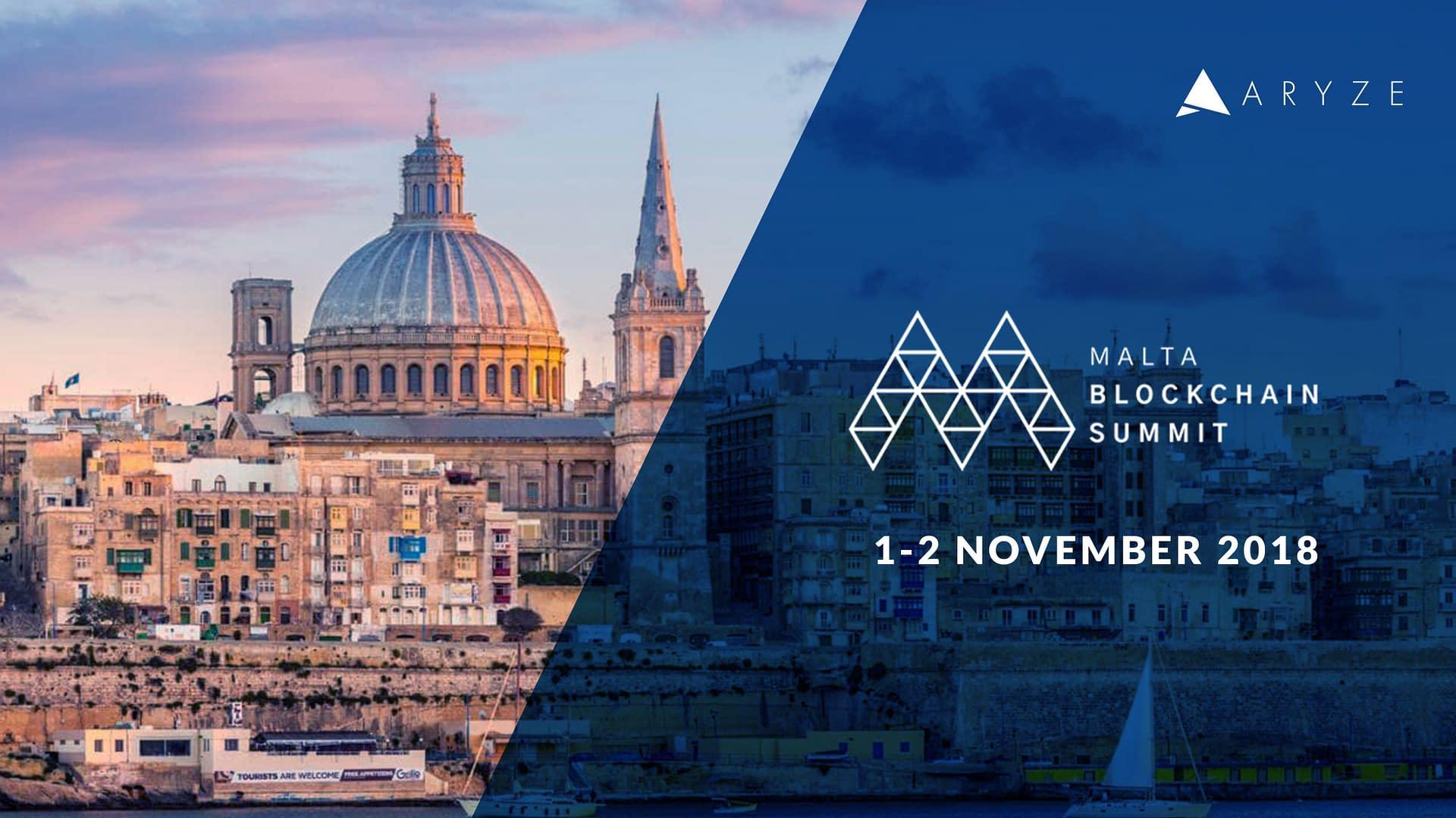 ARYZE to take part of Malta Blockchain Summit